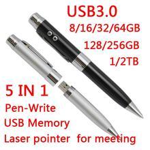 Лидер продаж 8 ГБ 16 ГБ 32 ГБ USB 3,0 Usb флешка 64 ГБ 5in1 Металл моды мини ключевых Pendrive 1 ТБ 2 ТБ Memory Stick Подарочная флеш-карта