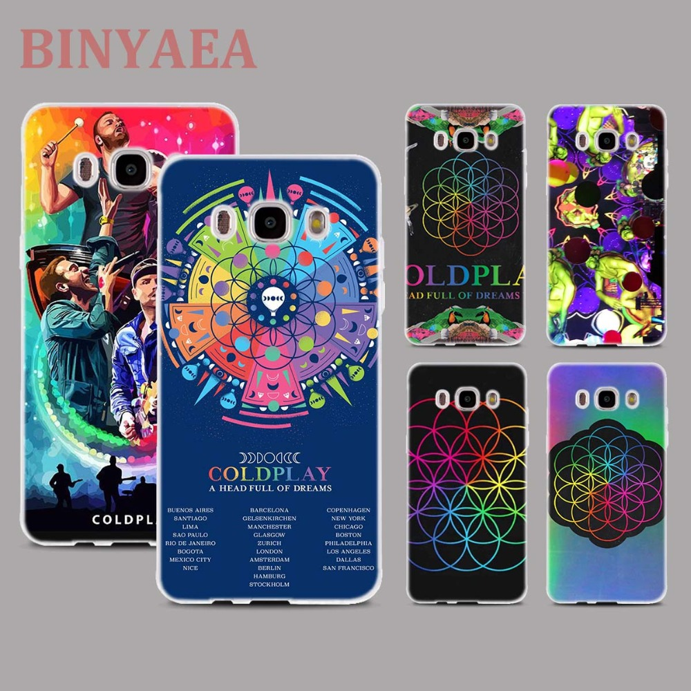BINYEAE Coldplay A Head Full of Dreams Style Clear Soft TPU Phone Cases for For Samsung J1 J3 J5 J7 2016 2017 EU Prime