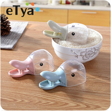 eTya Rice Measuring Cup cute little Water spoon Cereals Rice Bags Sealing Clip shovel scoop home creative Duck kitchen supplies(China)