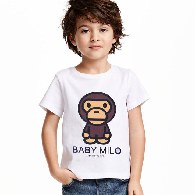 2017 Summer Baby Milo kids Clothing For Boys Fashion T shirt Sleeve T-shirt For Boys Clothes Children T shirts Child Tops