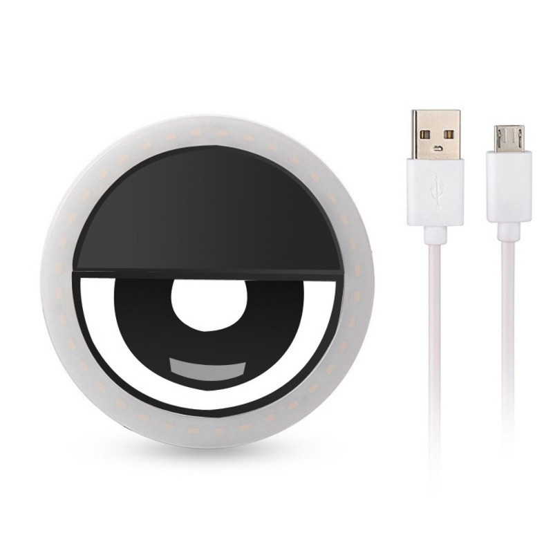 USB Charge 36 LED Lamps Selfie Light For Iphone Lighting Night Darkness Photography Selfie Ring Light For All Smartphone