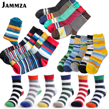 Brand Cotton Men Fashion Socks Vintage Male Striped Candy Colorful Summer Refreshing Wedding Socks Design Color New Business Sox