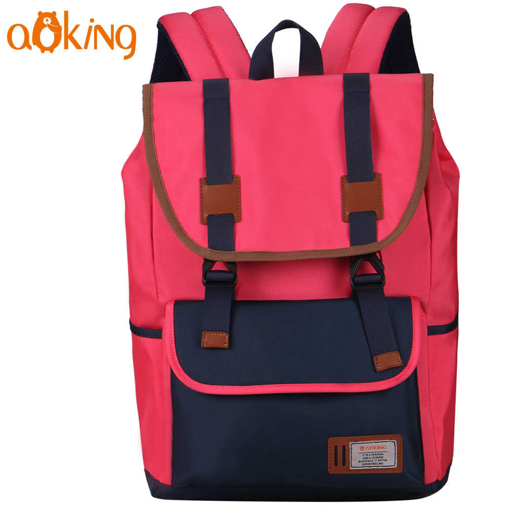 Aoking School Backpack for Teenage Girls Boys Large Capacity Leisure Fashion Backpack Casual Waterproof Backpack Student