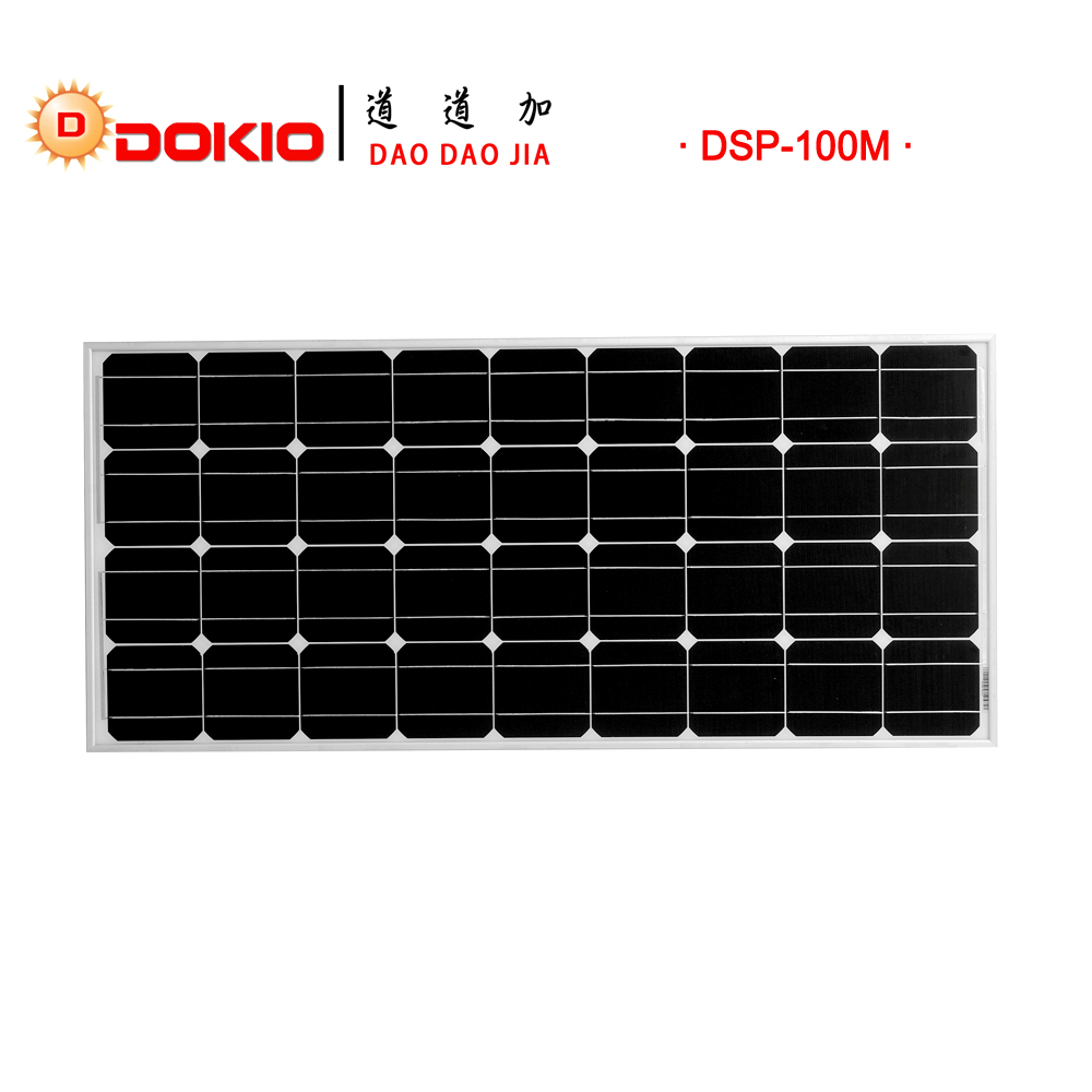 Dokio Brand Solar Panel China 100w Monocrystalline Silicon
