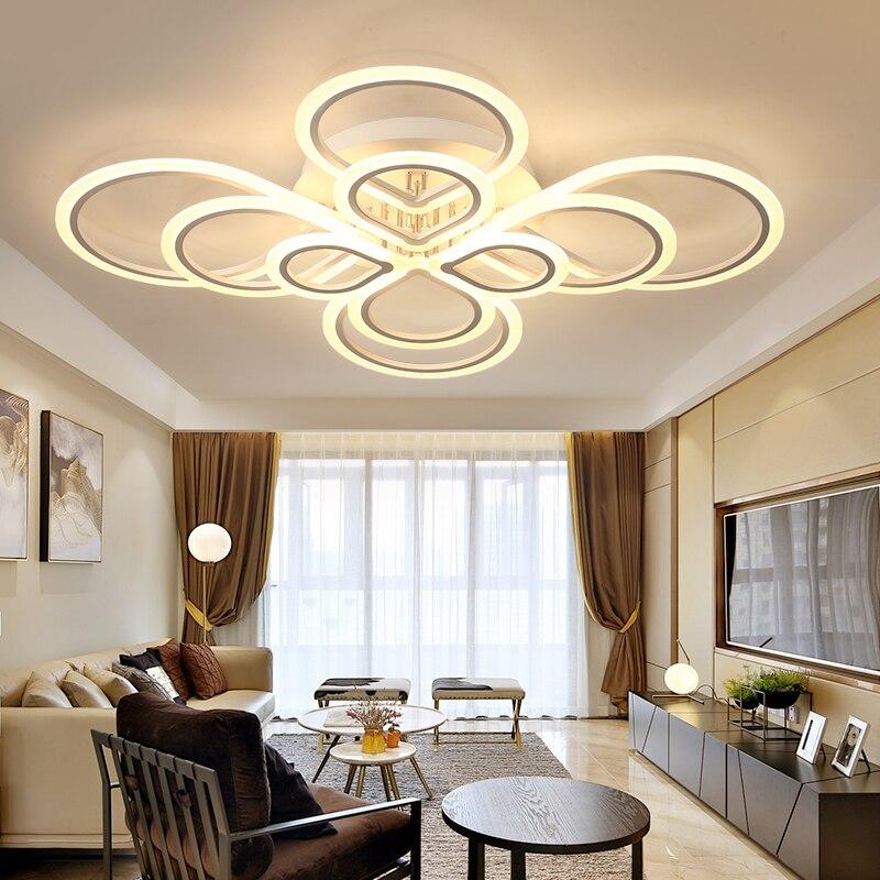 Modern acrylic LED ceiling light Overlapping frames large luxury ...