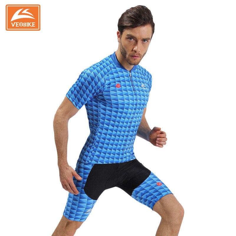 VEOBIKE 2017 мужчины гоночный велосипед Джерси велосипедов одежда MTB Велоспорт одежда Ропа ciclismo хомбре цикл равномерный Велоспорт полный набор F0904