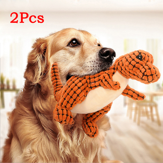JORMEL 2Pcs Dog Toys Cute Animal Designs Pet Puppy Chew Squeaker Squeak Plush Sound Toy For Dogs Cats Pet Chew Products