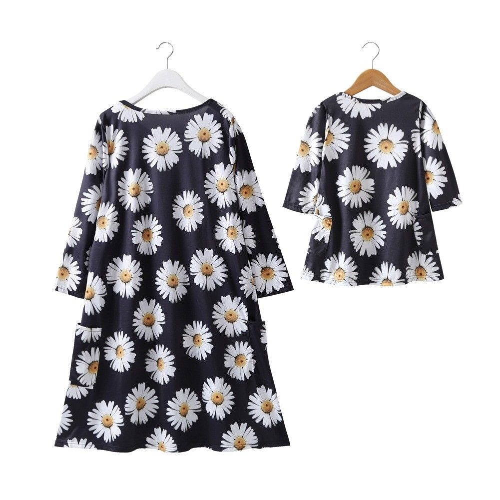 ... Summer Flower Dress Family Matching Women Baby Girl Sweet floral  printed Dresses New Family Outfit Clothes. В избранное. gallery image.  Наведите мышкой ... f301a1718530