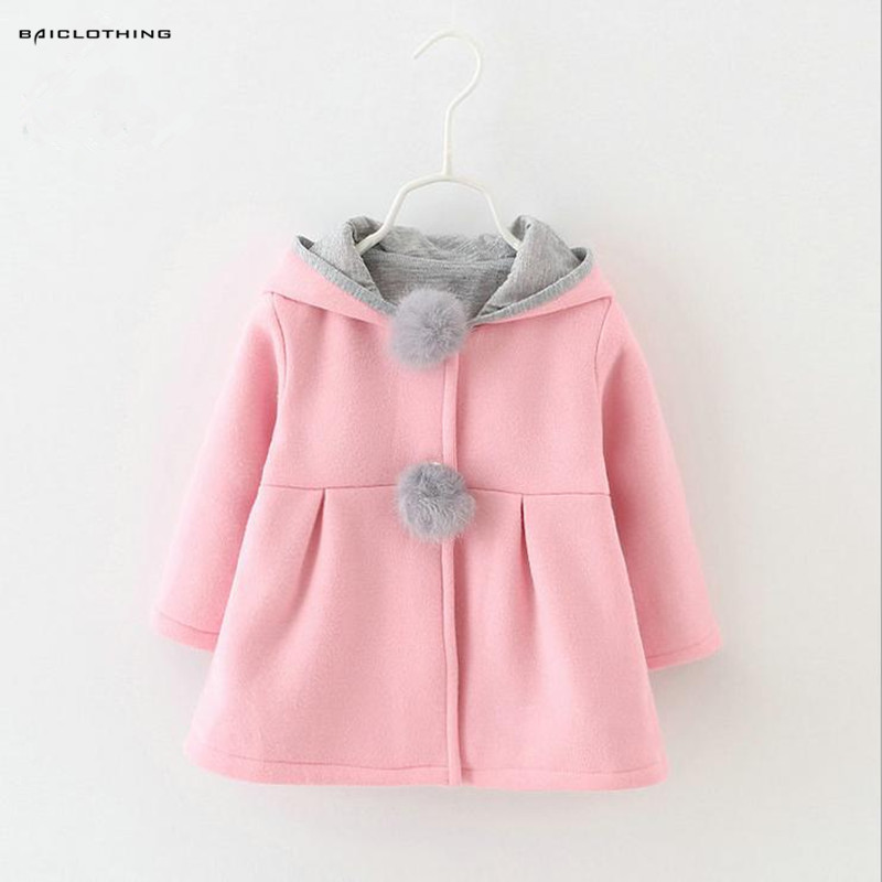2016 Korean Style Baby Girl Coat Kids Winter Autumn Jackets Kids Clothes 3 Colors Available Elegant Clothing Outerwear Hot Sale 2016 hot sale 3 colors 100