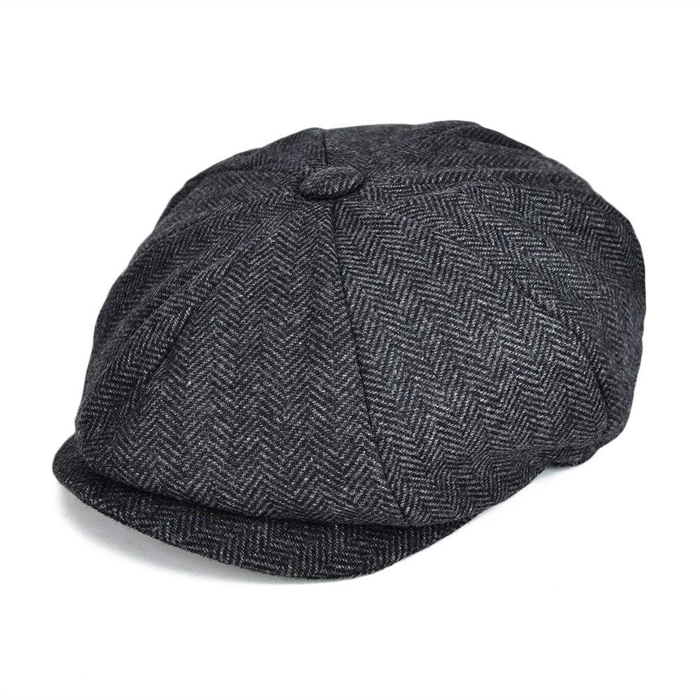 Woollen Tweed Newsboy Cap Men Women Herringbone Mens Hat Wo Blend Apple Caps  Eight Panel Cabbie Hats 131 1a2a0bd8b08