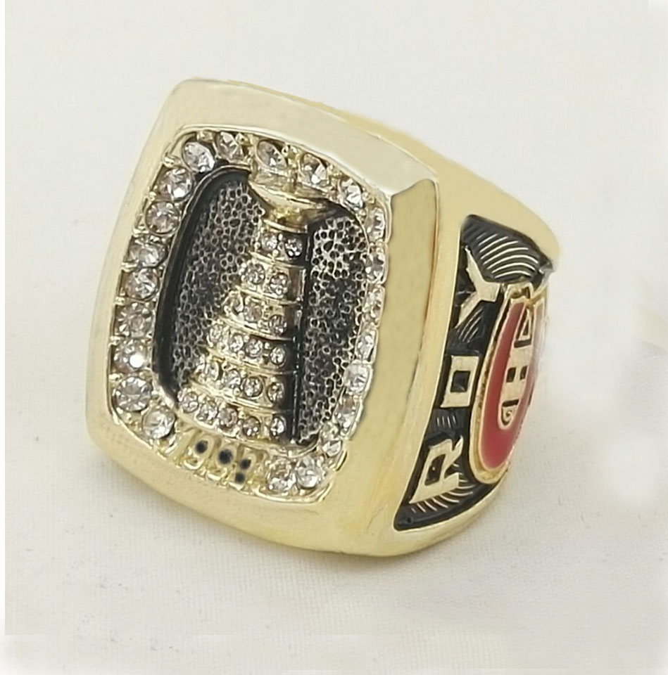 Factory Direct Sale 1993 Montreal Canadiens Stanley <font><b>Cup</b></font> world Championship <font><b>Ring</b></font> 18k real gold plated stainless steel <font><b>ring</b></font>