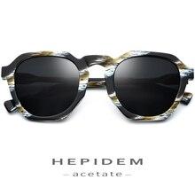 HEPIDEM Acetate Polarized Sunglasses Women 2019 New Vintage Retro Round Sun Glasses for Brand Design Big Oversize Sunglass