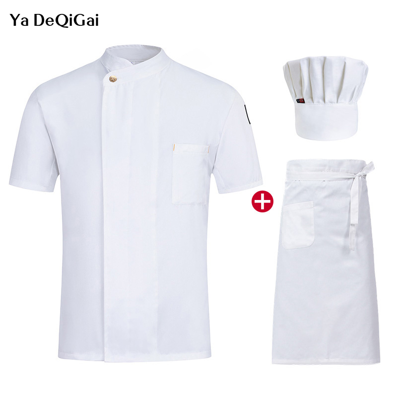 M-4XL High Quality Hotel Catering Shirts Unisex Chef Restaurant Uniforms Kitchen Work Clothes Summer Chef Restaurant Uniform