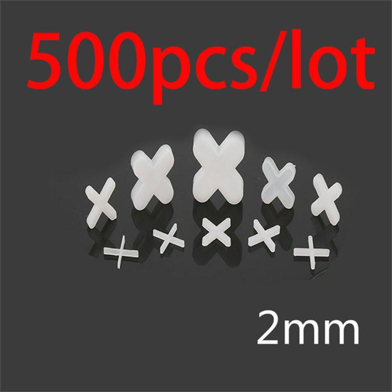 500pcs Tile Spacer Cross Plastic 2mm Tiling Ceramic Tilers Plumbers White Cross Clips Tile Leveling System