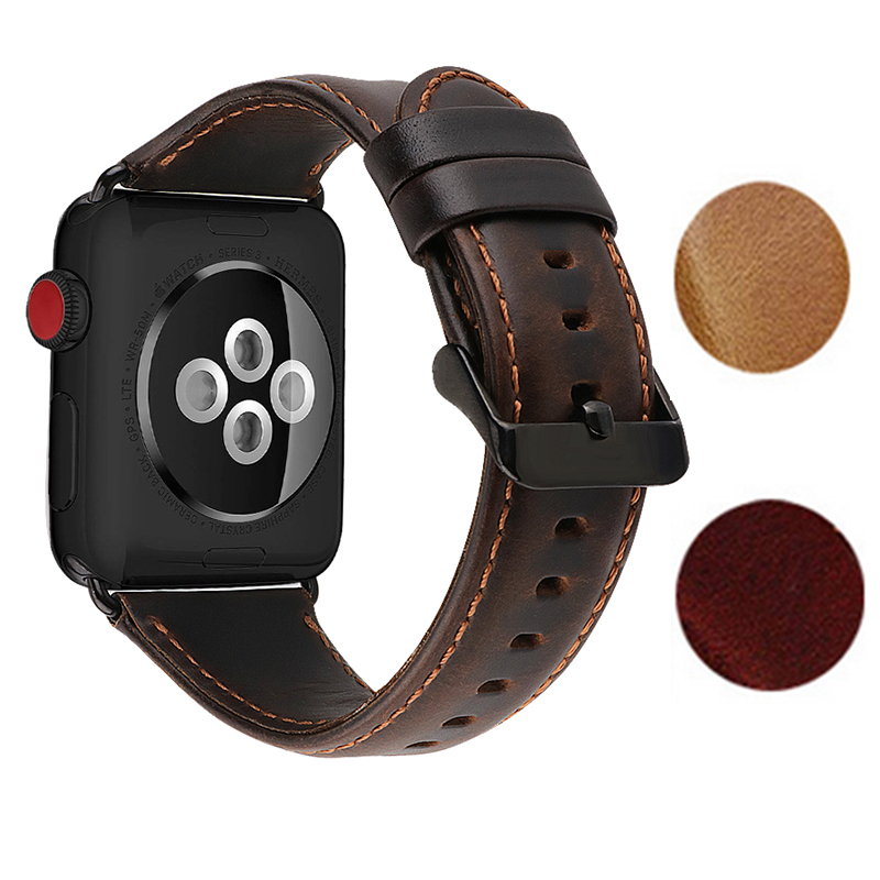 Watch Accessories Genuine Leather For Apple Watch Band 44mm 40mm Apple Watch Bands 42mm 38mm Series 4 3 2 1 Watch Strap correa