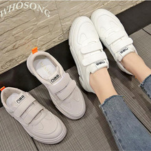 Women Sneakers 2019 Casual Shoes Fashion White Sneaker Round Toe Lace-Up Platform Size 35-40 z70