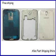Original For Samsung Galaxy Mega 6.3 i9200 Housing Full Set Front Middle Bezel Frame Battery Door Cover Case+Buttons Key+Logo