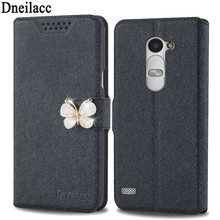 Lots style For LG Leon C40 mobile phone case new luxury flip cover with three kinds of diamond buckle