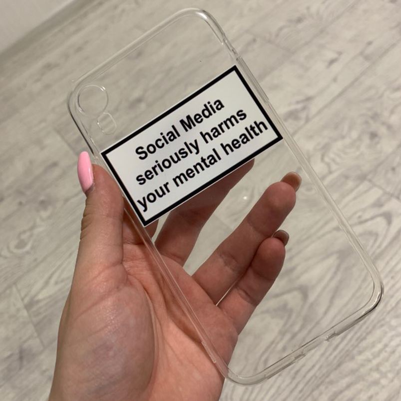 social media seriously harms your mental health soft Silicone phone case for iPhone XR XS Max 6 7 8 plus 5 5s 6s se 7 plus XX image