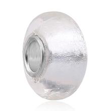 Fashion Brand New White Murano Glass Beads Fit Original Pandora Silver Charm Bracelet Pendant DIY Jewelry Making