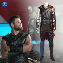 Thor Ragnarok Cosplay Odinson Costume Movie Superhero 3 Outfit Halloween Carnival Cloak Adult