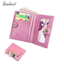 New Mini wallet female slim Purse Lady Coin wallets leather Women Short Purse A370