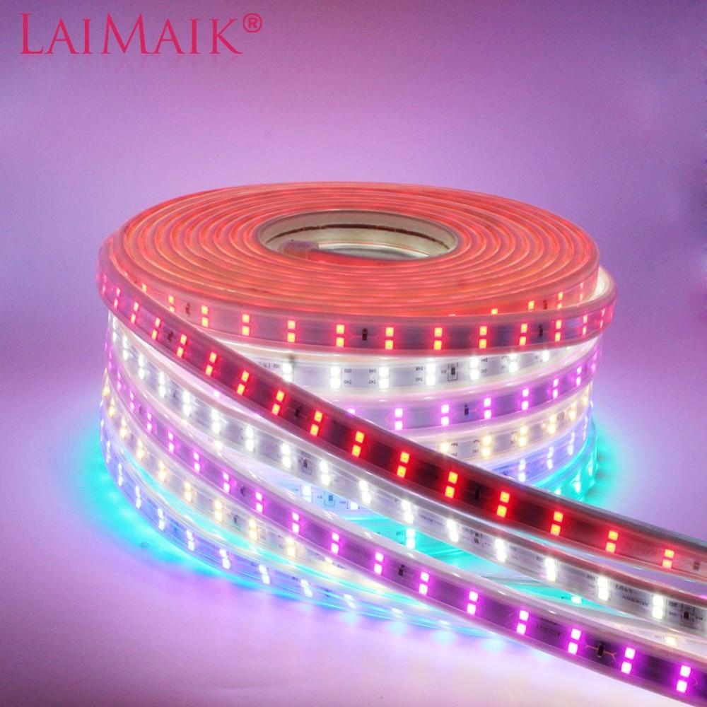 LAIMAIK 120led/M SMD2835 Led Strip Light 220V Double Row Waterproof Flexible Tape Lights White 1m 10m 20m 50m 100m With EU Plug