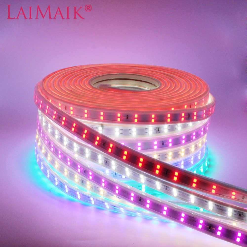 LAIMAIK 120led/m SMD2835 Led strip Light 220V Double Row Waterproof flexible tape lights white 1m 10m 20m 50m 100m With EU plug