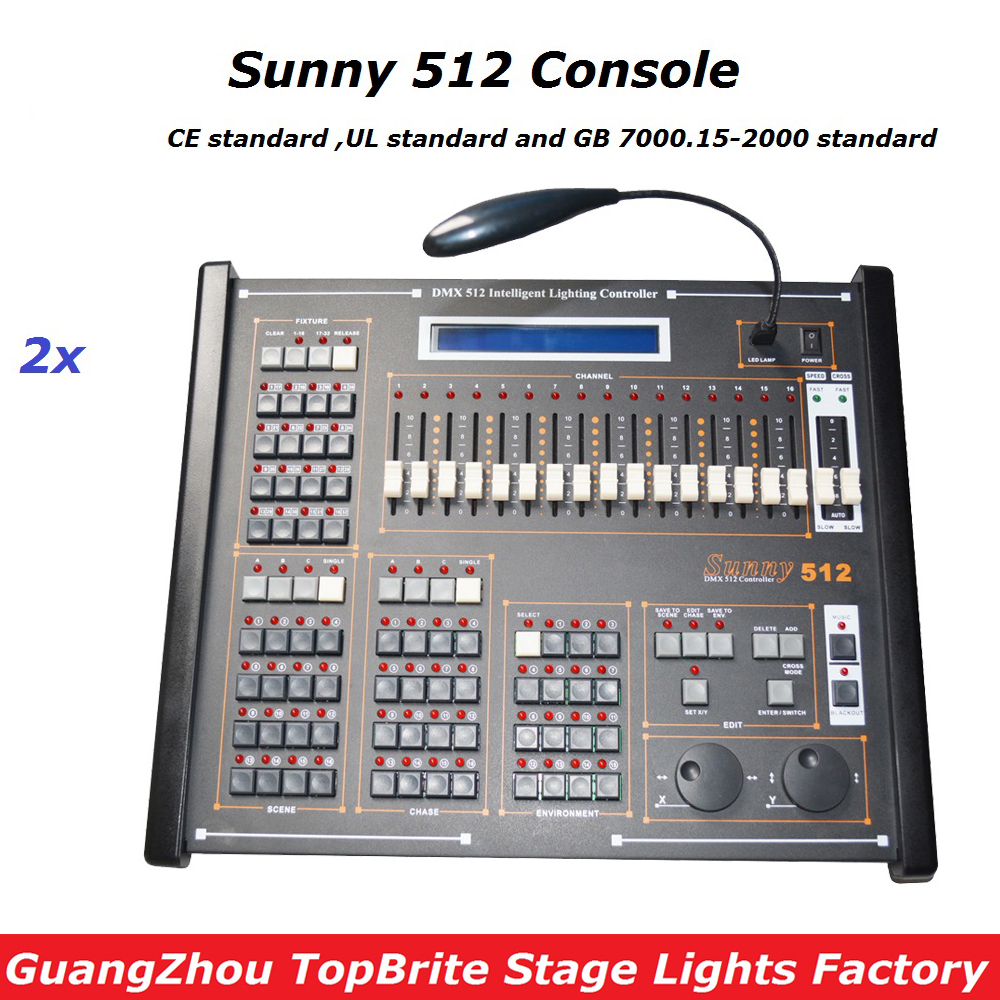 Factory Price New Sunny 512 DMX Controller Stage DMX Controller System  , DMX Console For Disco Bar Club Concert Effeect Lights dmx512 digital display 24ch dmx address controller dc5v 24v each ch max 3a 8 groups rgb controller