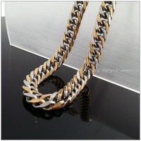 60cm*11mm 86g Free Shipping 316L Stainless Steel Silver/Gold Handmade Men's&Boy's Necklaces,High Quality Lowest Price