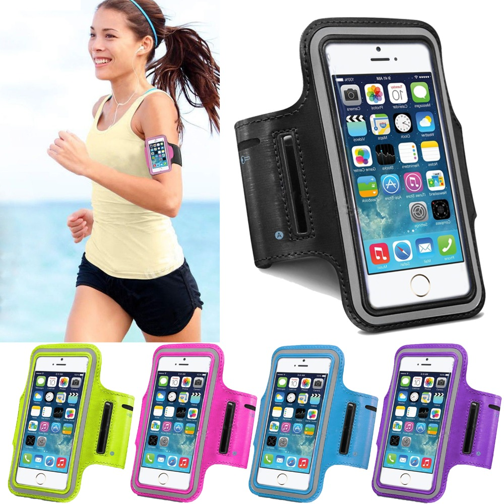 Luxury Outdoor Running Fishing band For Iphone 5 5S 5G SE Leather Case Belt Wrist Strap GYM Arms Mobile Phone Cover