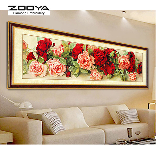 Lovely Room Decoration Diamond Painting Cross Stitch New 3d Diy Diamond Embroidery  Floral Kits Mosaic Wall Decor