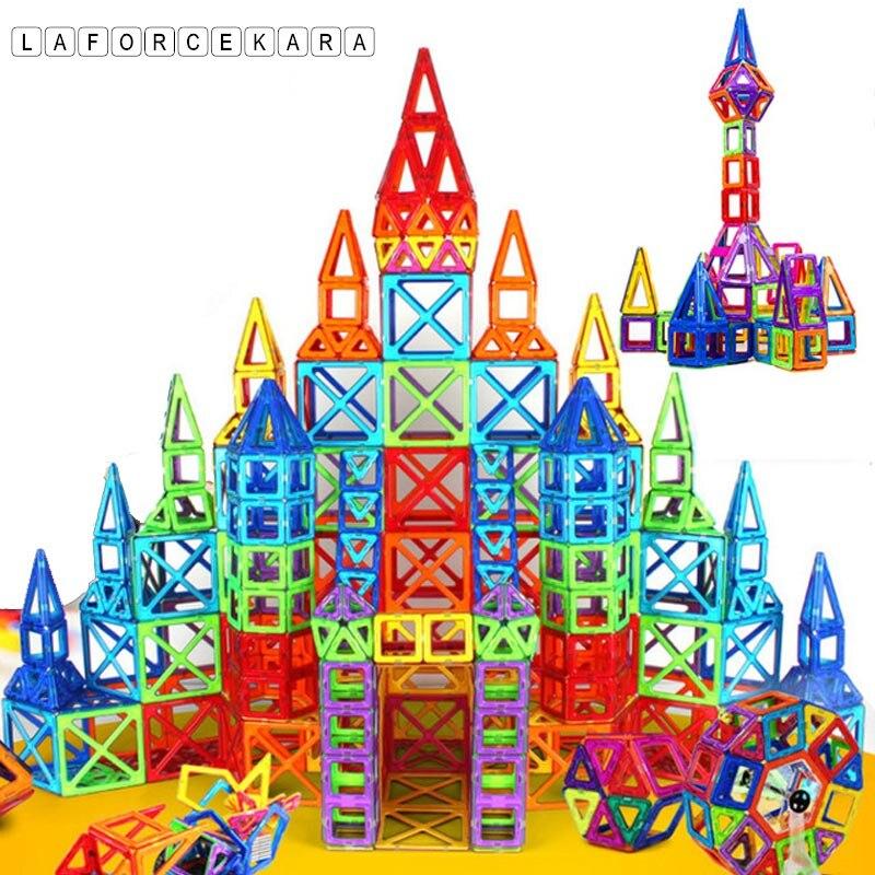 Marque 2017 Puzzle Mini Designer Magnétique Jeu De Construction Modèle et Jouet de Bâtiment 164 pcs En Plastique Magnétique Blocs Jouets Éducatifs Enfant