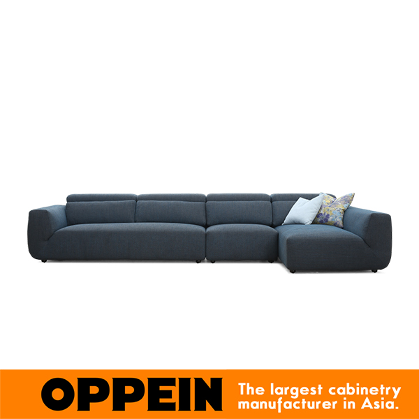 US $1530.0 |Modern Siamesed Sofa in blue grey European Living room corner  sofa furniture with poliester fabric WS TM160002-in Living Room Sofas from  ...