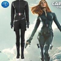 MANLUYUNXIAO Halloween New Captain America 2 Avengers Black Widow Costume Natasha Romanoff Cosplay Costume For Women Custom Made