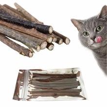 10 unids / set Mascota Catnip Natural Cat Molar pasta de dientes Palo Gato Limpieza Dientes Dientes Cat Snacks Sticks