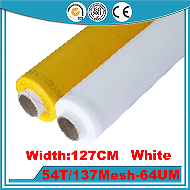 Fast Delievery!!! 10 Meters 54T(137mesh) -127cm 64W Polyester Silk Screen Printing Mesh Bolting Cloth
