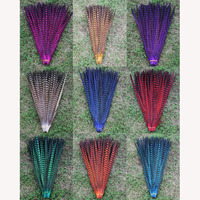 DIY handwork accessories multicoloured pheasant feather 48-55cm 19-22 inch 50 root sell