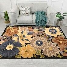 Европейский Стиль Высокое качество Искусство цветок художественная ковровая дорожка для Гостиная Спальня Противоскользящий коврик для пола Модные Кухня ковры