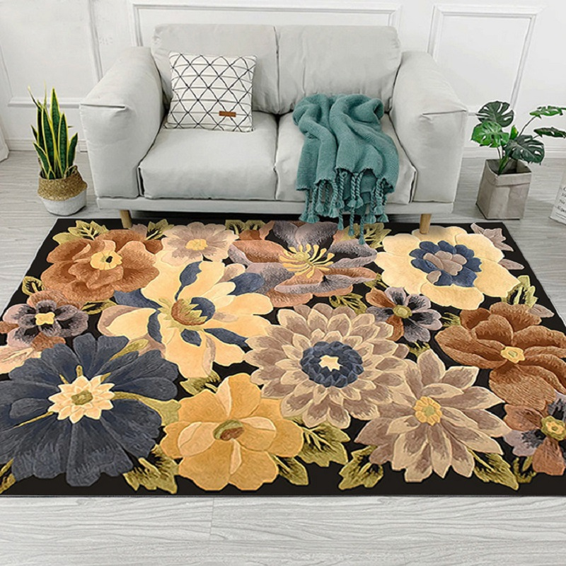 European Style High Quality Art Flower Art Carpet For Living Room Bedroom Anti-Slip Floor Mat Fashion Kitchen Carpet Area Rugs