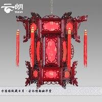 Доставка в китайском стиле шерсть антикварные фонари Подвеска Свет гексагональной фонарь балкон коридор огни замуж лампы ZS79