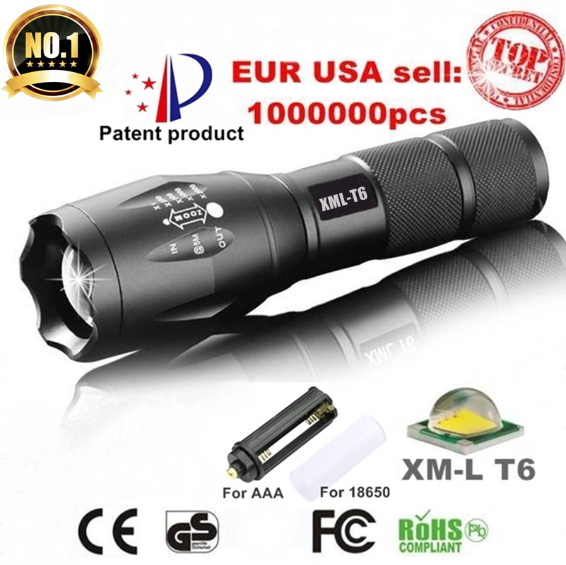 США ЕС Горячие E17 XM-L T6 3800LM Алюминиевый Водонепроницаемый Масштабируемые CREE СВЕТОДИОДНЫЙ Фонарик Факел свет для 18650 или ААА батареи