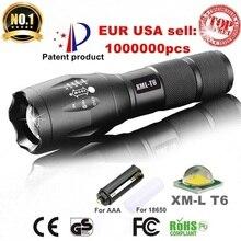 Alonefire e17 xm-l t6 3800lm impermeable de aluminio de zoomable del cree led linterna antorcha de luz para 18650 batería recargable o aaa