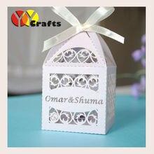 50 шт., хит продаж, коробка для торта на свадьбу, вечерние подарки, детский сувенир с душем, коробка конфет с выгравированным логотипом