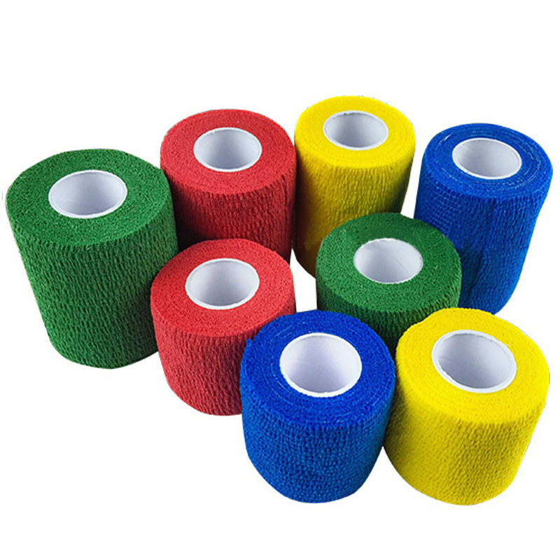 10Rolls/lot Non-woven Self-adhesive Elastic Bandage Breathable Athletic Adhesive Tape Wrist Arm Joints Protector Drop Shipping