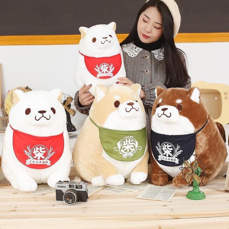 1pc Cartoon Shiba Inu Dog Plush Toys Soft Stuffed Cute Animal Corgi Plush Pillow Doll Lovely Children Birthday Gift For Kids
