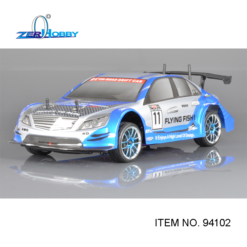 HSP RACING RC CAR FLYING FISH 94102 1/10 SCALE 4WD ON-ROAD NITRO SPORT RALLY RACING 18CXP ENGINE DOUBLE SPEED STARTER INCLUDED 02023 clutch bell double gears 19t 24t for rc hsp 1 10th 4wd on road off road car truck silver