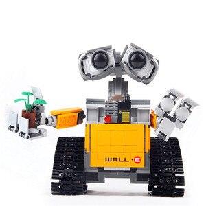 Image 5 - 21303 строительные блоки WALL E Robot, игрушка 687 шт., модель робота, строительные блоки, игрушки, детские совместимые идеи, игрушки WALL E