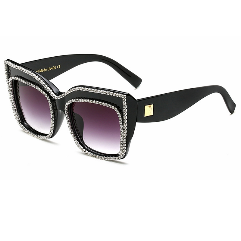 152ca261c835f Newest Oversize Luxury Women Jewelry Sunglasses Bling Rhinestones Brand  Design Vintage Shades Ladies BIG sun glasses Gafas -in Sunglasses from  Women s ...