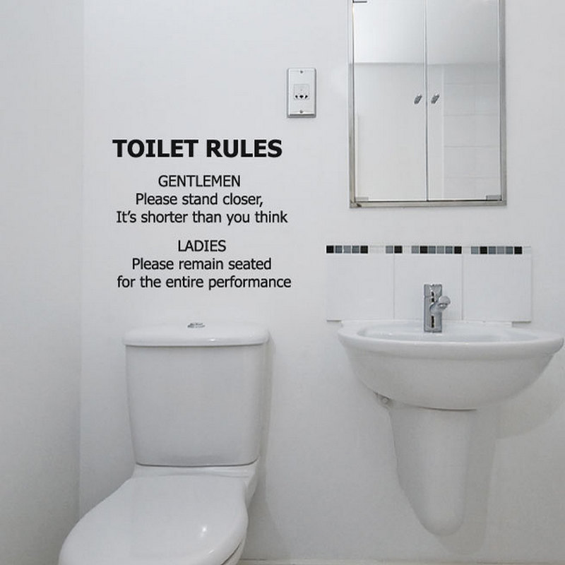 Aliexpress Com Buy Funny Bathroom Wall Decal Toilet